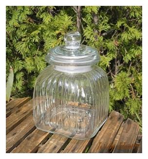 陶器、ガラス グラスジャー スクエアーS [3-Mar]