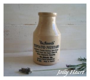 陶器、ガラス tomato mastard Jar [p1911b12]
