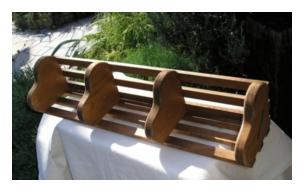 木製小物 ハートコーナーシェルフ [AKS-02]