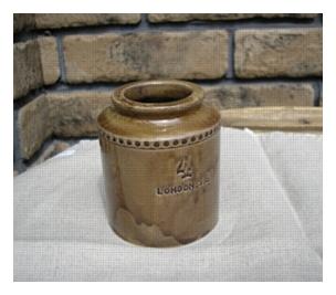 陶器、ガラス 倉敷意匠 刻印 ミニボトル [BB-22]