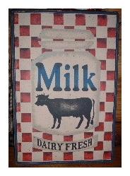 フレーム、サインボード Milk [B-11]