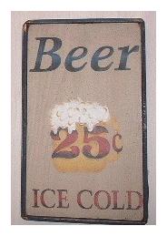 フレーム、サインボード Beer 25¢ [B-04]
