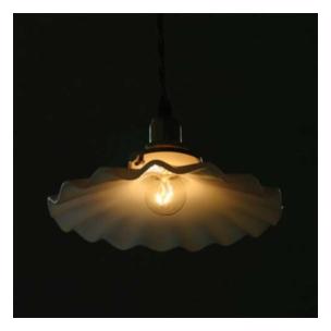 ライト、キャンドル Homestead ミルクガラスシェード シェル [HL01]