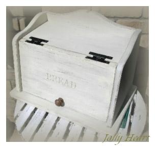 木製小物 ホワイトブレッドボックス [OM-01]