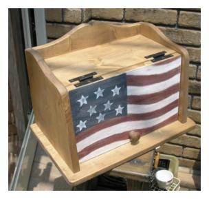 木製小物 ブレッドボックス [OM-05]