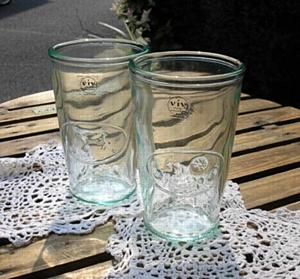 陶器、ガラス タンブラー グリーン [GW-04]