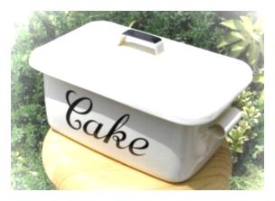 ホーロー 倉敷意匠 ブラックロゴタイプ ケーキ缶 [KBH-10]