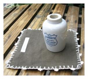 陶器、ガラス 倉敷意匠 ミニクリームボトル [BB-50]