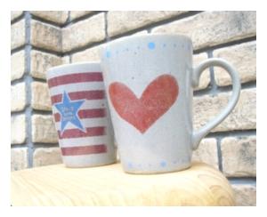 陶器、ガラス ロングマグカップ Heart [longmagh]