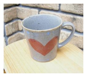 陶器、ガラス マグカップ Heart [magheart]