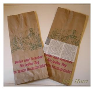 ドイツのパン屋さんの茶筋袋 少女