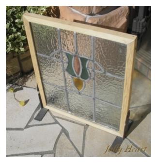 陶器、ガラス アンティーク ステンドグラス [st-7301]