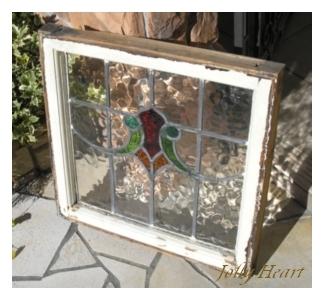 陶器、ガラス アンティーク ステンドグラス [st-5756]
