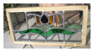 陶器、ガラス アンティーク ステンドグラス [st-7169]