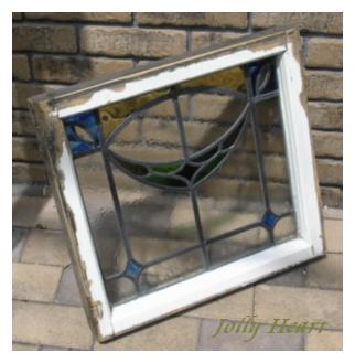 陶器、ガラス アンティーク ステンドグラス [st-8392]