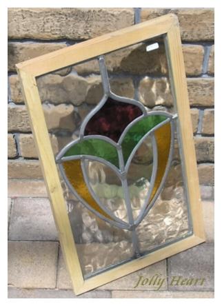 陶器、ガラス アンティーク ステンドグラス [st-7337]
