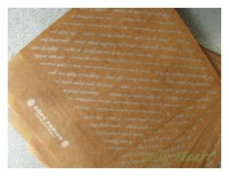 ワックスペーパー封筒 カリグラフィー柄